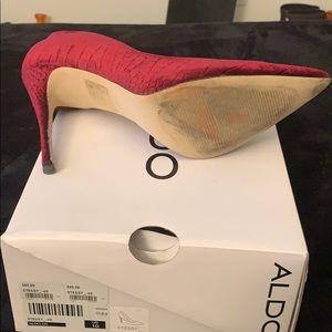 Aldo Shoes - Maroon velvet material heels